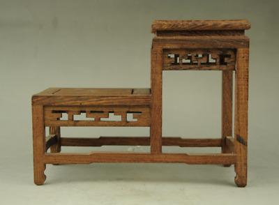 new suan-zhi wood rosewood China high-low style stand display shelf
