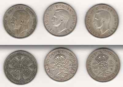Great Britain - 18 Silver Florins - 1936 to 1946