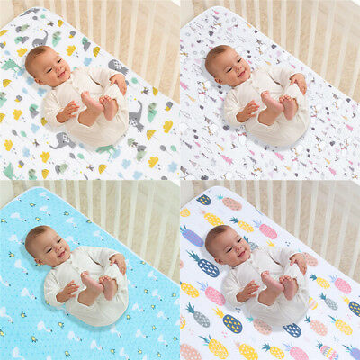 Baby Changing Pad Infant Waterproof Mat Cover Cotton Urine Bedding Nappy Diaper