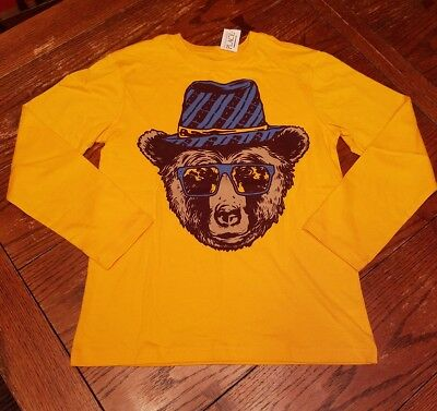 Boys The Children's Place yellow bear long sleeve shirt, Large L 10/12 NWT