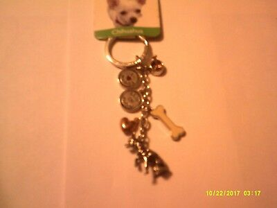 Little Gifts Chihuahua dog pet 6 Charm Key Chain ring gifts 12B