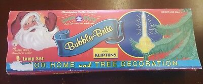 Christopher Radko Bubble Brite 9 Lamp Set Shiny Brite with Kliptons with Box
