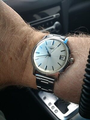 Vintage Longines Cal 285 Hand-Wind 1960's Crosshair Dial 3 Straps!!