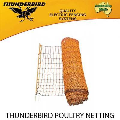 THUNDERBIRD POULTRY NETTING Premium Quality Chicken Electric Fence 50m X 112cm