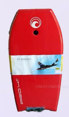 "Crane Pro Bodyboard 41"" 104 Cms Leash Red  Beach Surf Body Board Boogie Surf"