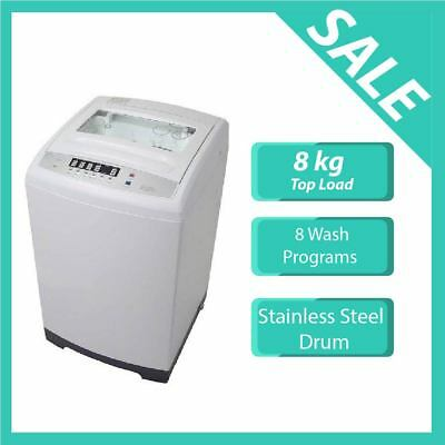 8kg Top Load Washing Machine (HEQS080SE) -White, Brand New,