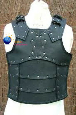 Medieval Vest Armor Costumes Dress Genunine Leather Board Sca/larp