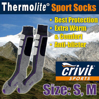 Crivit Winter Sports Socks: Unisex Thermolite Socks [Warm Violet Design]