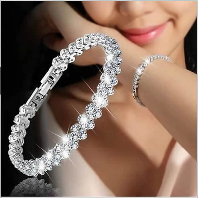 HOT Women fashion jewellery 925 STERLING silver charm brcelet bangle Xmas Gift