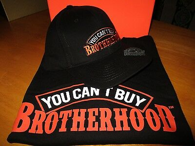 Brotherhood Box Gift set - T-Shirt, Hat & Pewter Pin Badge rider biker size 2XL