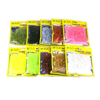 10/50pcs Fishing Worm 6 g 5cm Swim bait Jig Soft Curly Tail Lure Fly Fish Bait