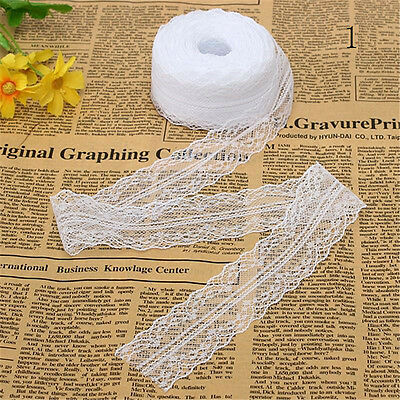 10Yard 4cm Wide Embroidered Net Floral Lace Trim Ribbon Sewing Decoration Craft