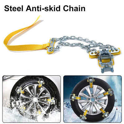 Car Anti-skid Snow Tire Chain Manganese Steel Emergency Belt for snow /Sand road