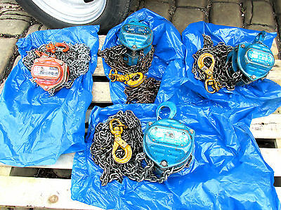 Hublast Chain Hoist Block & Tackle Choice Of 3   Take Your Pick £35  Each