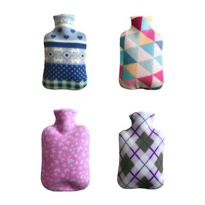 2L Soft  Fleece Hot Water Bottle Cover Warmer Heat Removable Large knitted Cover