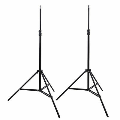 2x210CM Photo Studio Soft Box Light Stand Umbrella Flash Tripod Support Stands
