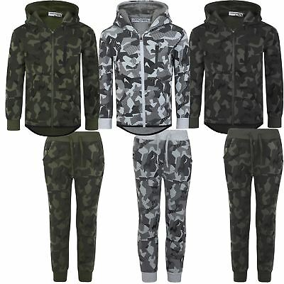 Kids Geometric Camouflage Print Trousers or Jumper Boys Jogging Bottoms 3-14 Y