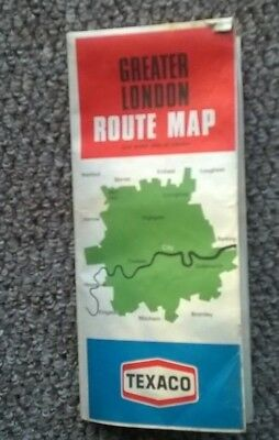 Texaco Greater London Route Map