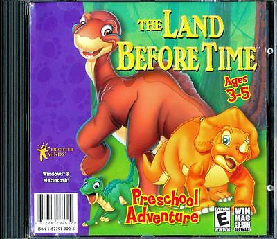 The Land Before Time  Ages 3-5 Preschool Retro Pc Cd Rom Software - Nm - Ln
