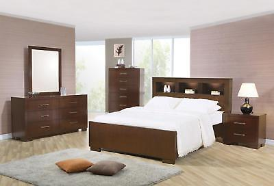 Marvelous Coaster 200719KW 712 713 714 Cappuccino 4 Piece Cal King Bedroom Set
