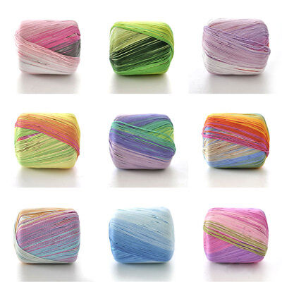 1 Roll Hand-woven 5 Strands Colorful Lace Thread Cotton Soft Fine Knit Crochet