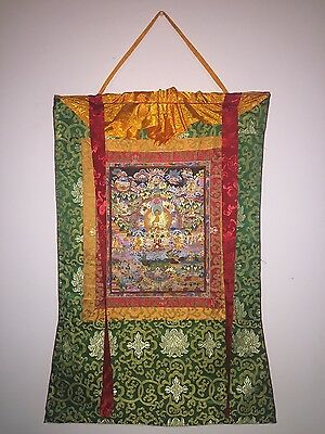 Original Tibetan Chinese HandPainted Buddha Life Thangka Painting Meditation