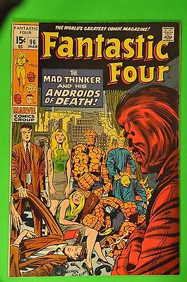 Fantastic Four #96 (Mar 1970 Marvel) 1st Mad Thinker  8.5 VF+ Uncertified