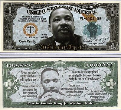 Martin Luther King Jr. - Wisdom Million Dollar Novelty Money