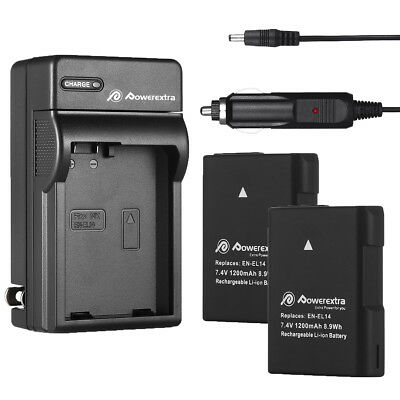 EN-EL14 EN-EL14a Battery Charger for Nikon D5100 D3100 D3200 D3300 Coolpix P7700