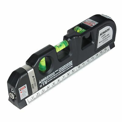 Laser Tape Measure Lazer Level Line Leveling Tool Measurement Multi Purpose