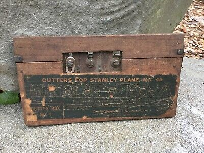 Antique Stanley no. 45 Box of Cutters for Stanley Plane, Box #1