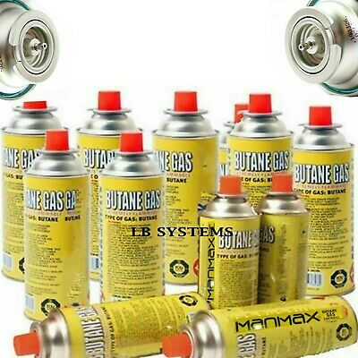 Butane Gas Bottles Canisters For Portable Stoves Cookers Grill Heaters Campaign