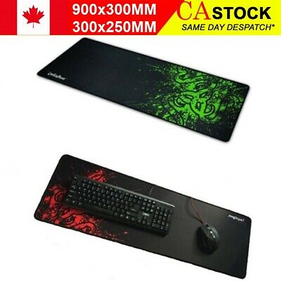 New Non-Slip Smooth Gaming Mouse Pad Keyboard Mat Desk Mouse pad CA STOCK