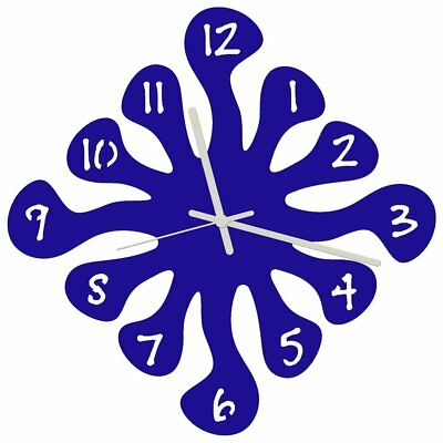 Euphyllia-Splash Large Wall Clock 32cm Blue (e9574blu)