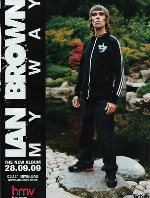 IAN BROWN My Way - Full Page Magazine Advert Picture 2009 - The Stone Roses