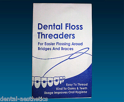 Floss Threaders x 10 ~ Dental Floss Holders Between Orthodontic Braces & Bridges