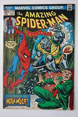 AMAZING SPIDER-MAN #124 FN/VF 7.0 (Marvel) 1st App Man-Wolf