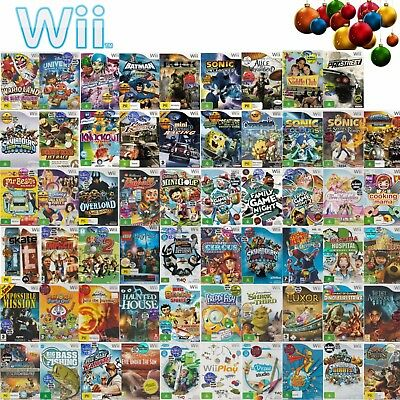 Nintendo Wii  💚💛 GAMES RATED G & PG Your Choice - Indiv Described 💛💚 15/12