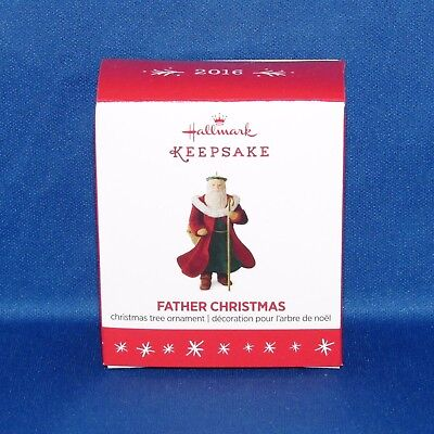 Hallmark - 2016 Father Christmas - Miniature Christmas Keepsake Ornament - NEW
