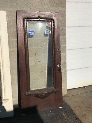 Phil 11 Antique Carved Oak Entry Door 36 X 84