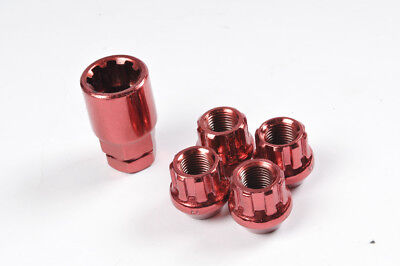 Locking Wheel Nuts 12x1.5 Bolts Tapered for Toyota Prius Plus 12-16