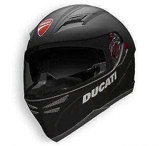 Ducati Dark Rider Helmet 98102003 - Matte Black Finish by AGV XS, XXL