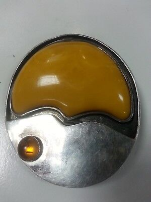 Natural 925 Silver Baltic Butterscot​​ch Amber