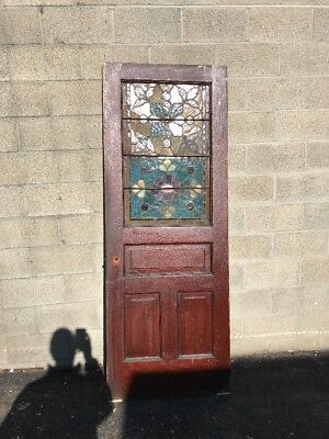 Phil 13 Antique Stainglass Passage Entry Door 29 5/8 X78.75
