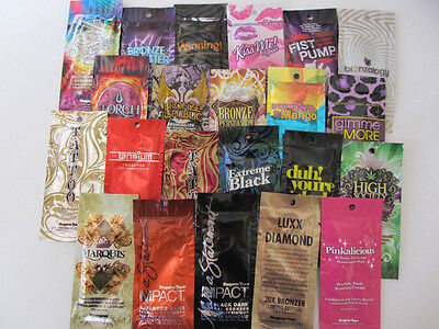 10 Pack Of Various Supre All Different Tanning Lotion Packets