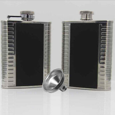 4oz Stainless Steel Outdoor Portable Hip Flask Flagon Whiskey Wine Pot Bottle