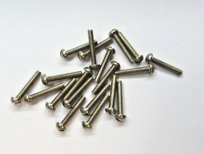 20==#2/56 X 1/2  In Round Head Brass Nickel Plated Machine Screws Slotted