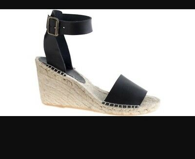 NWOT J Crew Corsica Women's Wedge Sandal 8 Black Sold Out
