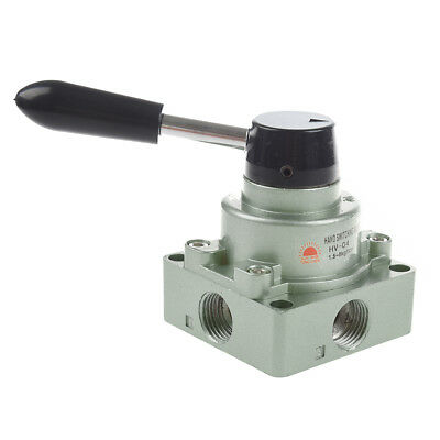 "HV-04 G1/2"" 3 Position 4 Way Manual Pneumatic Lever Valve X3Y6"