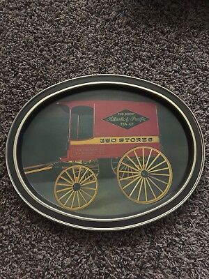 The Great Atlantic & Pacific Tea Co. Vintage A&P Serving Tray,Oval Shaped, Used
